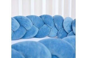 Tour de lit tressé Petrol Blue