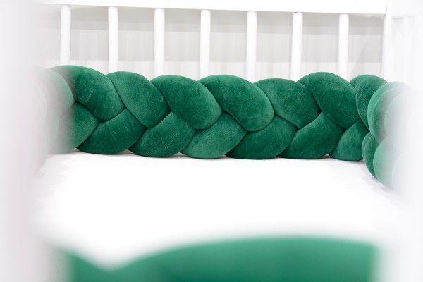 Tour de lit tressee Vert Sapin