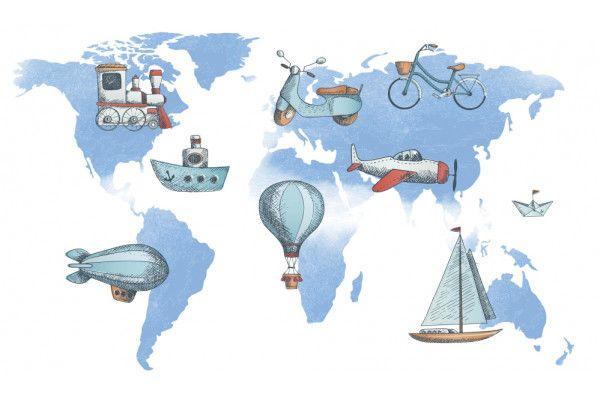 Carte des transports du monde