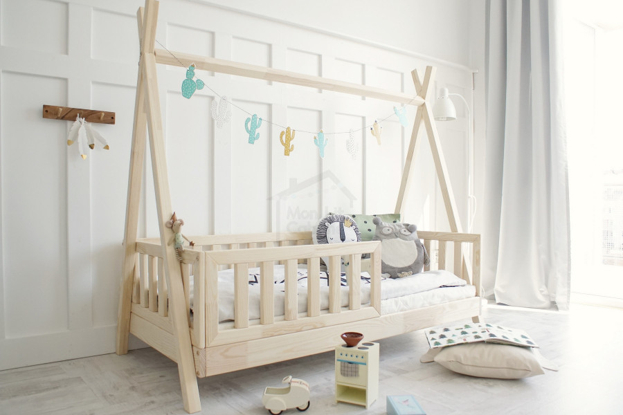 Teepee Bed LB Natural Wood