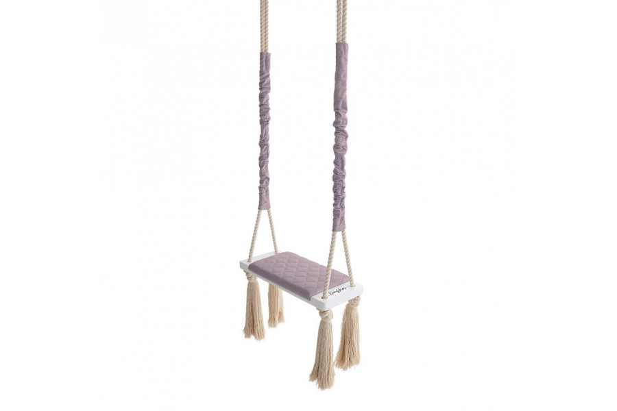 Wood Swing Antique Pink