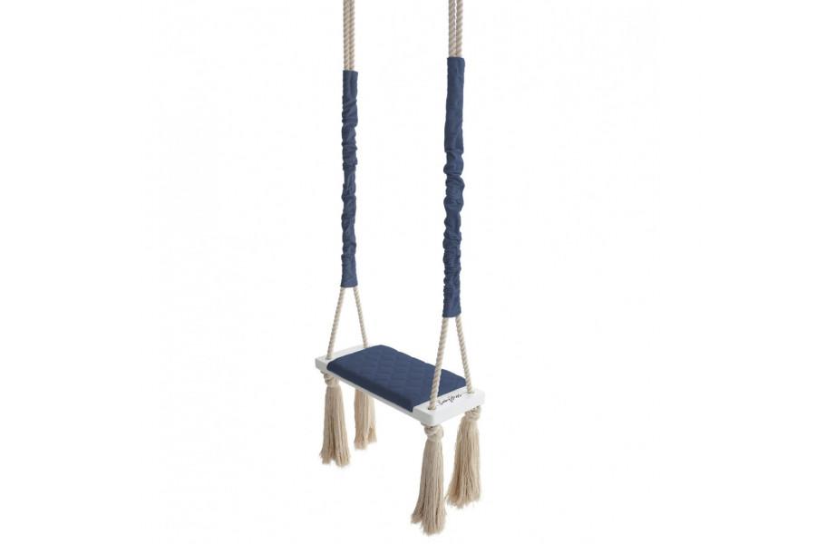 Wood Swing Blue Marine