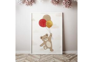 Teddy bear avec baloons