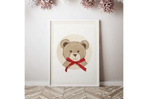 Teddy bear avec noeud