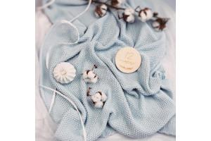 Aqua Cotton Blanket