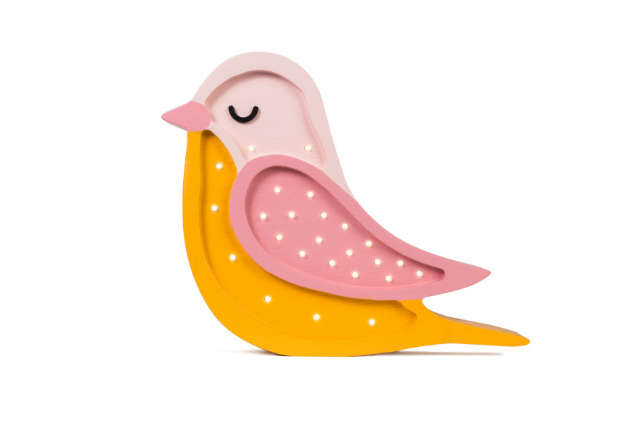 Oiseau Rose & Moutarde