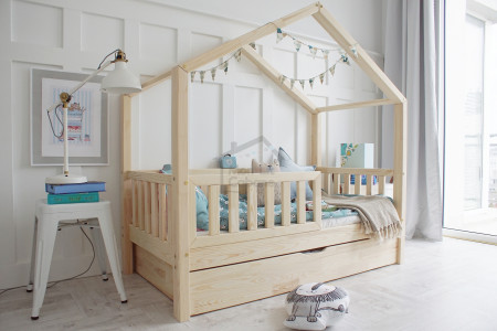 House Bed DBT Natural Wood