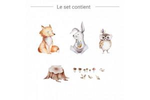 Renard, Lapin, Hibou