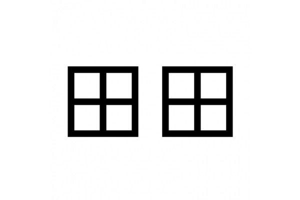 fenêtres blanches et noires