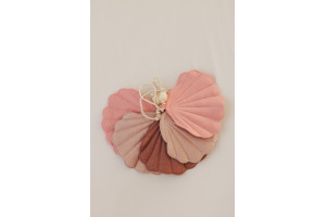 Guirlande de lin COQUILLES ROSES