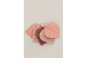 Guirlande de lin FEUILLES DE ROSE