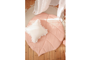 Tapis Lin Feuille Light Pink