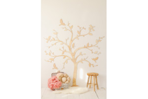 Décoration murale - un arbre avec des oiseaux