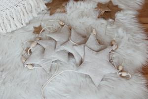 Guirlande Etoiles en Lin Nature