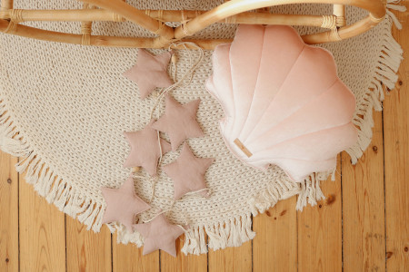 Pink Linen Stars Garland