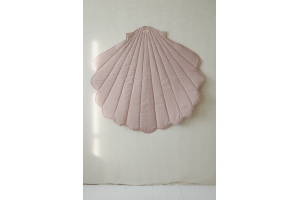 Tapis Lin Coquillage Rose Poudre