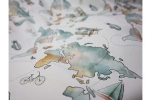 Parure Carte du Monde