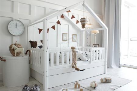 House Bed DWT White