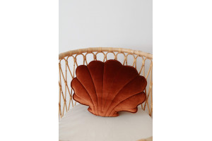Coussin Coquillage en Velours Copper Pearl