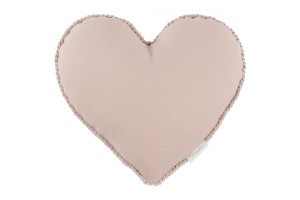 Coussin Coeur Boho Rose Poudre