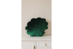 Coussin Coquillage en Velours Emerald