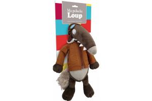 La peluche Loup Aviateur