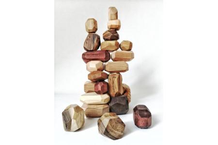 Wooden Stone Balancing Blocks 24 Pieces