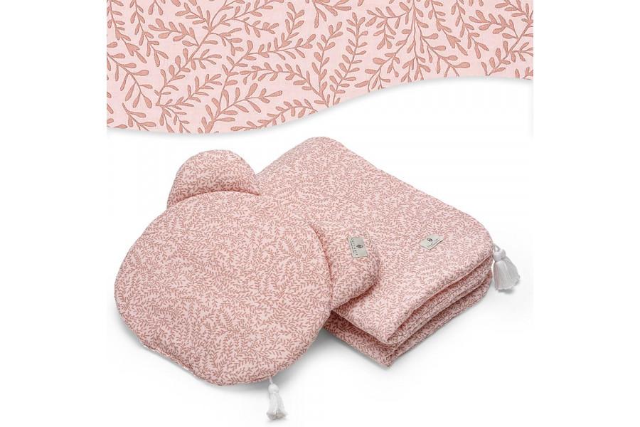 Pink Leaf Muslin Set