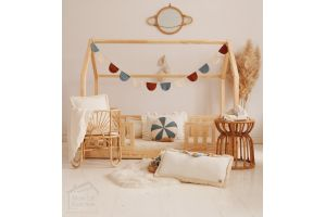 House Bed LW on Floor 80x160