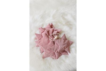 Dusty Pink Velour Stars Garland