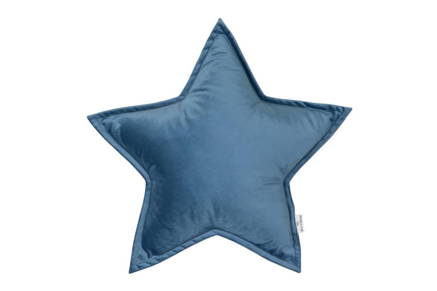 Cojín Estrella de Terciopelo Azul