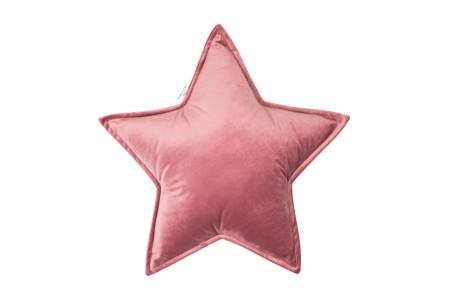 Vintage Pink Star Velour Cushion