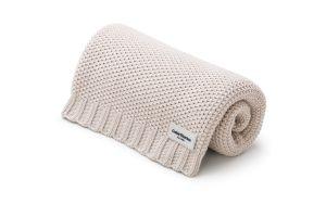 Creamy Beige Cotton Blanket