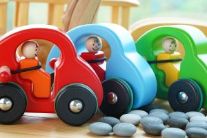 """Fasten your seat belt"" Red Car"