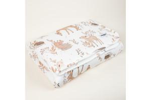 Couverture chaude en coton imprimé Forest Friends