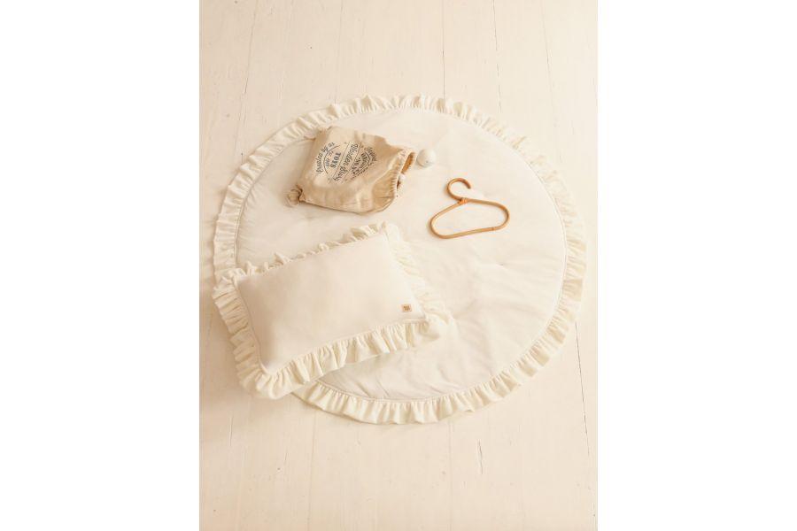 Round White Soft Velour Mat