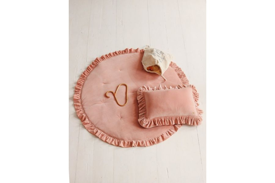 Round Peach Soft Velour Mat