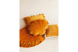 Mustard Shell Soft Velour Cushion