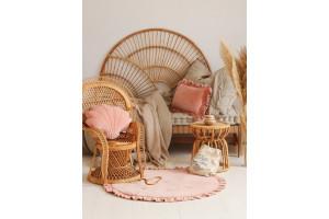 Peach Shell Soft Velour Cushion