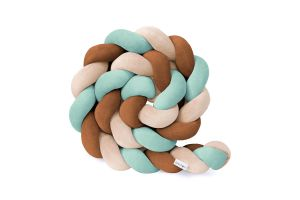 Sea-Green & Cinnamon Bed Bumper - 3 Ropes