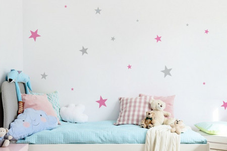 Pink and Grey Stars
