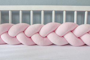 Tour de lit tressé Rose