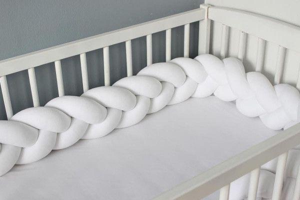 Tour de lit tressé Blanc