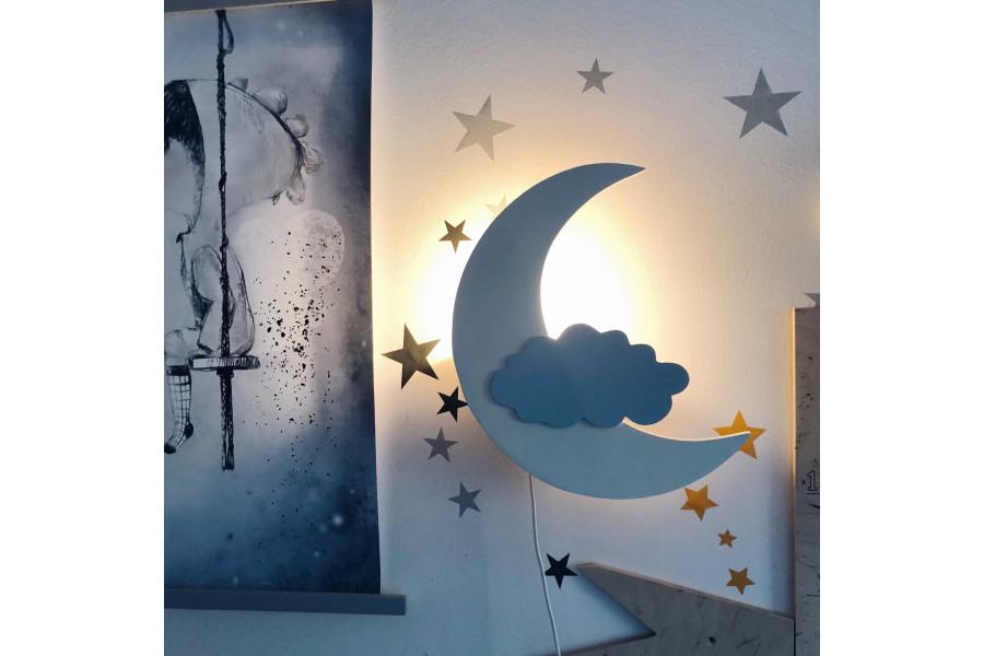 Crescent Moon Lamp - Monlitcabane
