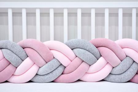 Slim Double Braided Bed Bumper